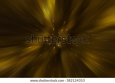 abstract golden background. fractal explosion star with gloss and lines