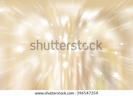 abstract golden background. fractal explosion star with gloss and lines - stock photo
