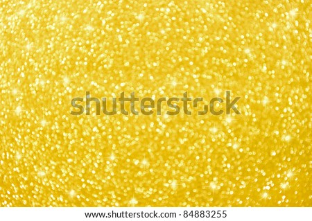 abstract golden background with lights and stars - stock photo