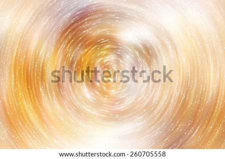 abstract golden background with scintillating circles and gloss - stock photo