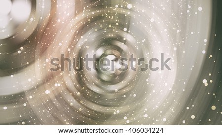 abstract golden background with scintillating circles and gloss