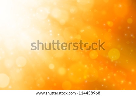Abstract golden christmas background. - stock photo