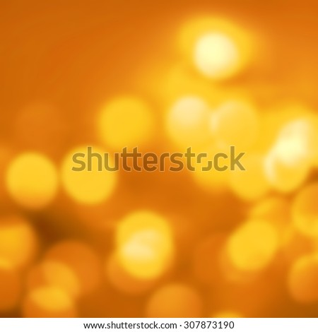 Abstract Golden  Christmas background with gold  bokeh lights  and place for text. Beautiful Festive textured  background.  - stock photo