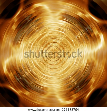 Abstract golden disk for poster and music background - stock photo