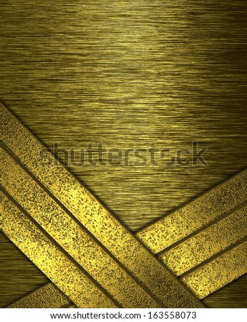 Abstract golden grunge background with gold stripes grunge. Design template
