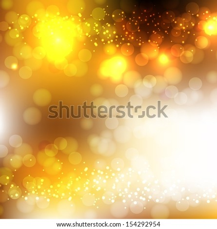 Abstract Golden Holiday Background. Raster image. - stock photo