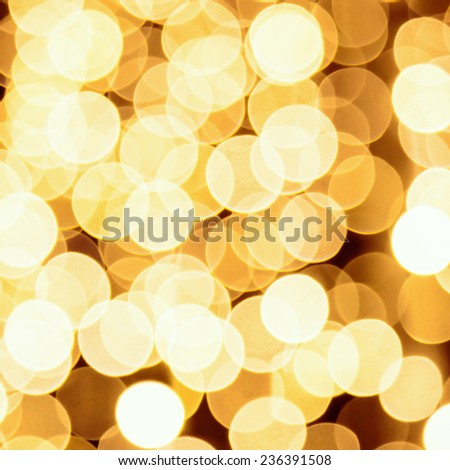 Abstract golden lights background - stock photo