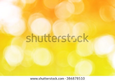 Abstract golden lights bokeh background,Festive background with defocused lights