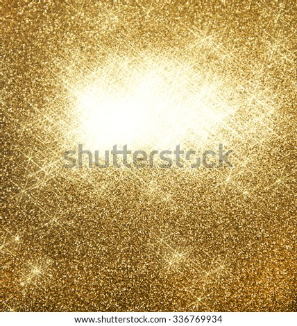 Abstract golden shiny lights background. Blurred stars - stock photo