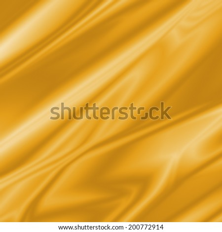 Abstract golden silk texture with folds, great as a background or overlay. - stock photo