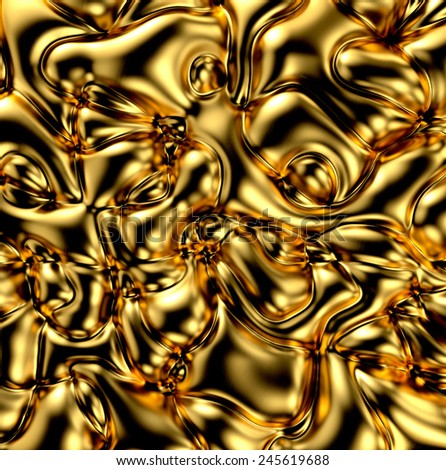 Abstract Golden Texture. 3D render - stock photo