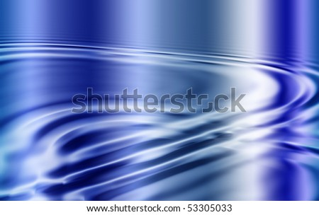Abstract gradient background in blue with diagonal ripples
