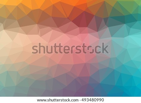 Abstract gradient colorful polygonal pattern graphic background. Geometric multicolored - blue, yellow, green, red