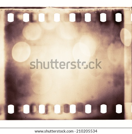 Abstract grained film strip texture