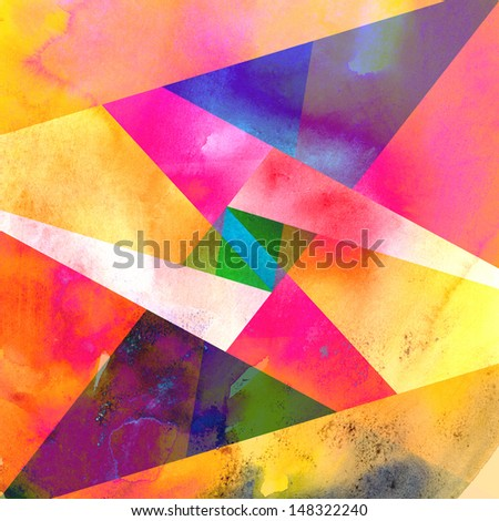 abstract graphic background with geometric elements - stock photo
