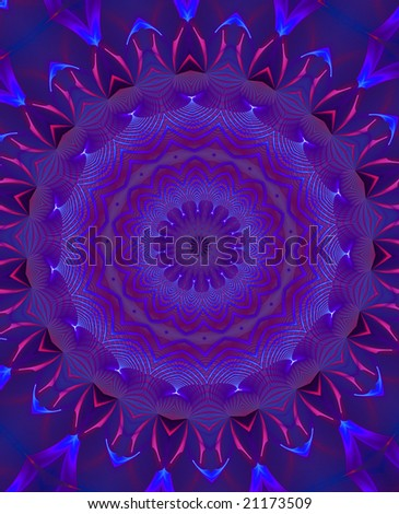 abstract graphic mandala background