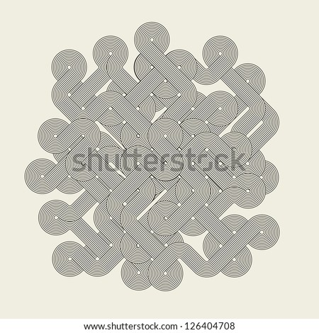 Abstract graphic shape - stock photo