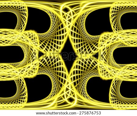 Abstract graphic yellow background of intersecting grids