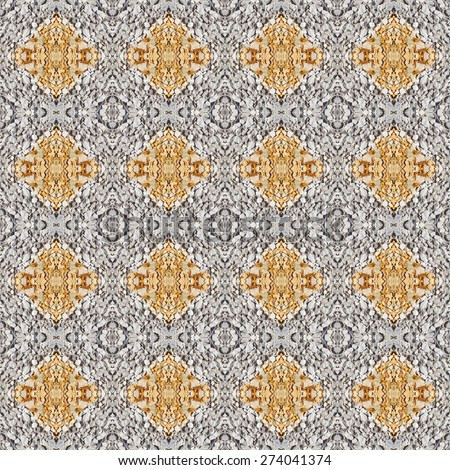 Abstract Gray and yellow color gravel floor pattern background, abstract, wallpaper - stock photo