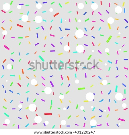 Abstract gray background with brightly colored rectangles and white circles.