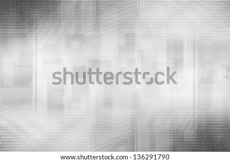 abstract gray circles and square background - stock photo