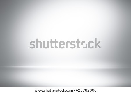 Abstract gray empty room studio gradient used for background and display your product / 3D illustration background - stock photo