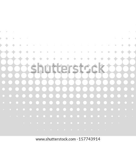 Abstract Gray Halftone Background, raster illustration  - stock photo
