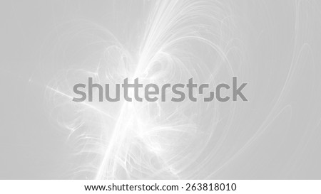 Abstract Gray White Background with Lines Curves Lights - stock photo