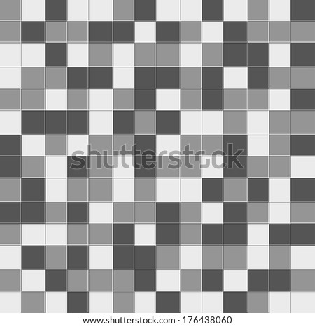 Abstract grayscale pixel background, Raster version.