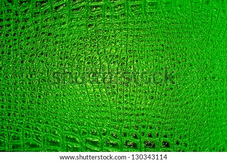 Abstract green alligator patterned background - stock photo