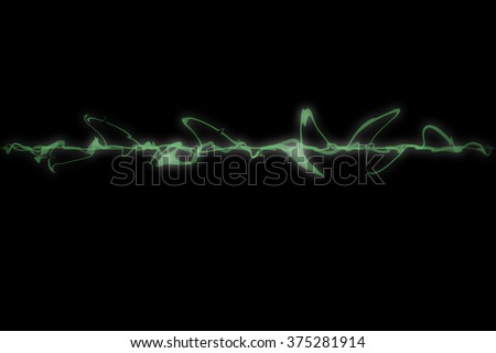 Abstract green amplitude illustrated for background
