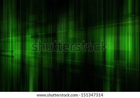 abstract green and black technology background. - stock photo
