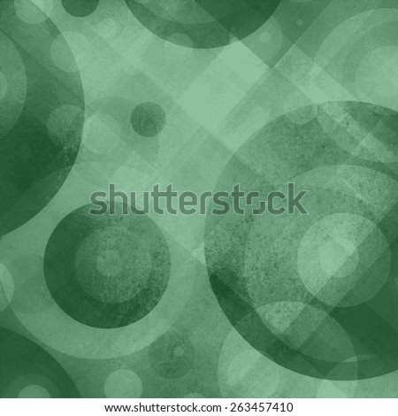abstract green and gray background with circles squares diamonds and target shape design pattern, graphic art design for website and products