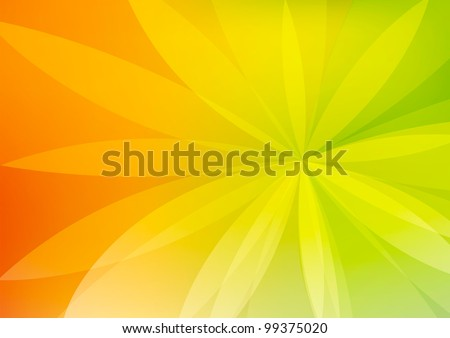 Abstract Green and Orange Background Wallpaper - stock photo