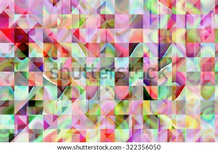 abstract  green and red  color background with square pattern