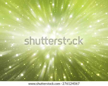 abstract green background. explosion star
