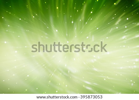 abstract green background. fractal explosion star with gloss and lines