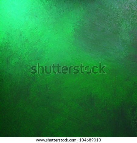 abstract green background, gray grunge design texture and bright lighting with artistic sponge smeary paint on wall illustration for backdrop, paper, or web background templates - stock photo