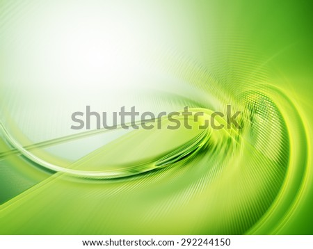 Abstract green background. High detailed wave form. - stock photo