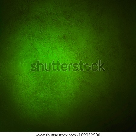 abstract green background, old black vignette border or frame, vintage grunge background texture design, rich green color tone for Christmas or holiday, for brochures, paper or wallpaper, green wall - stock photo