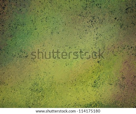 abstract green background old faded vintage grunge background texture with stains and messy antique grungy paint surface with yellow and pink color overlay for web template background or poster ad - stock photo