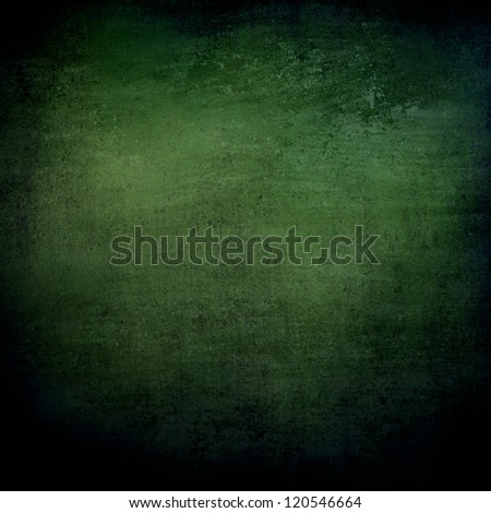 abstract green background or black background with lots of rough distressed vintage grunge background texture design, elegant blank background, black border edges with center spotlight text area - stock photo