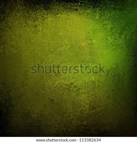 abstract green background with black border on vintage grunge background texture dark  layout design of olive green background on light distressed old canvas for web template background or grungy wall - stock photo