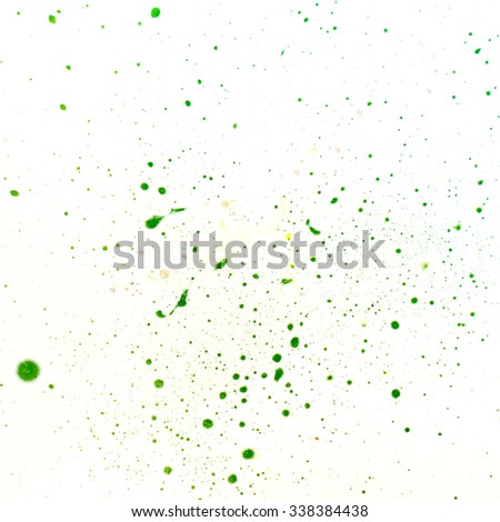 Abstract green blobs blots on a white background. - stock photo