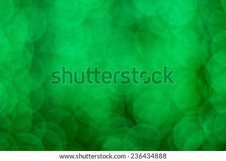 Abstract green bokeh backround - stock photo