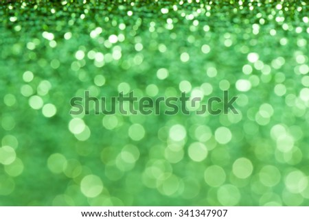 abstract green bokeh christmas decoration background