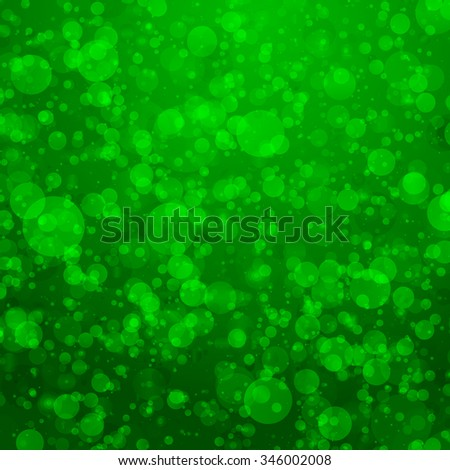 Abstract green bubbles background with vibrant color tones - stock photo