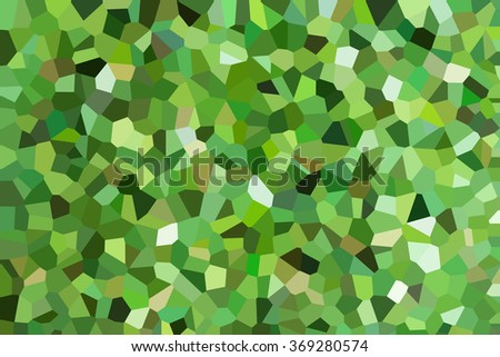 abstract green color crystal background - stock photo