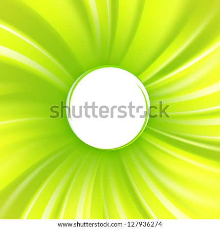 Abstract green cover with smooth lines.