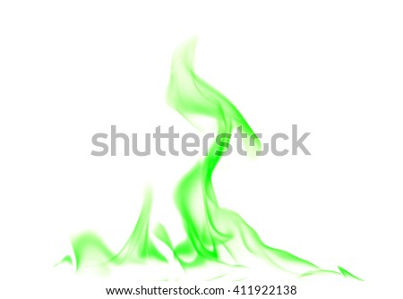 Abstract green fire. - stock photo